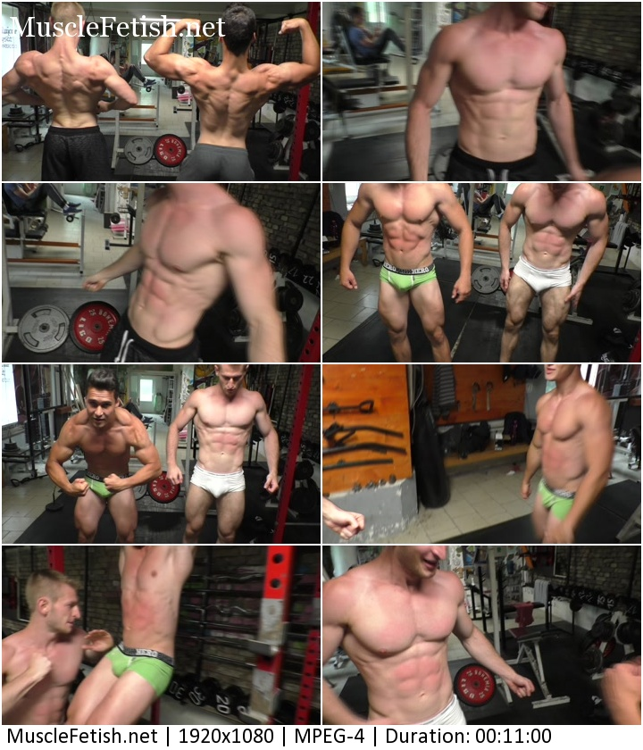 Flex-king Vs. Seb Muscle - pumped up press - muscular abdominal - strength test
