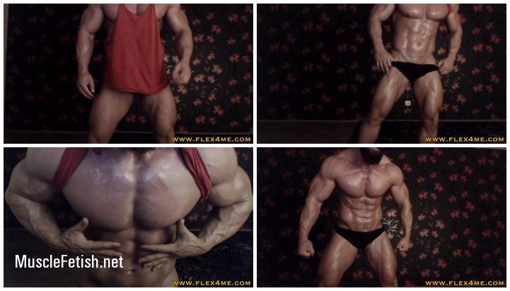 Flex4Me - Massive bodybuilder - Oil up