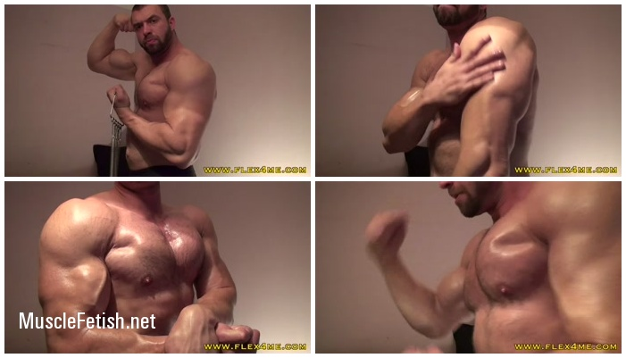 Flex4me - Pumping and oiling up - Tim - Bodybuilder Tihomir Rangelov