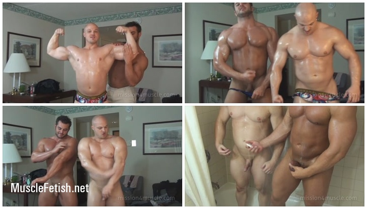 Frank the Tank DeFeo and Kyle Stevens - Dual Muscle Worship