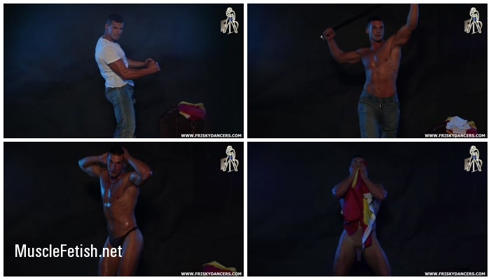 FriskyDancers - Cristian - Muscled male stripper naked