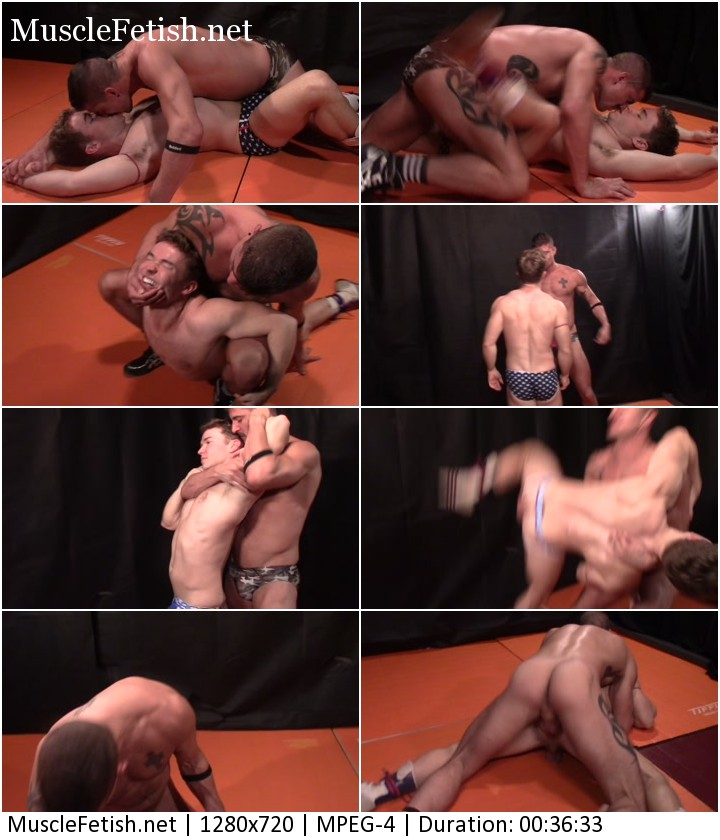 Gabriel Cross vs Sean Maygers - gay wrestling in the ring