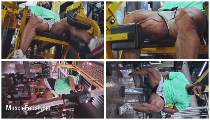 Hadi Choopan Legs Workout On Road To Mr Olympia 2021 (no sex)