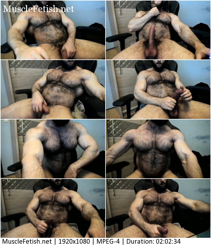 Hairy muscled monster from Chaturbate