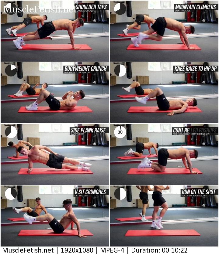 Handsome athletic guy Fraser Wilson - 10 min morning workout