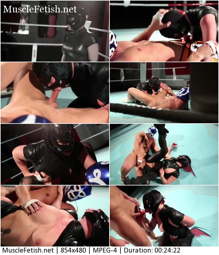 Hard latex wrestling - porn battle