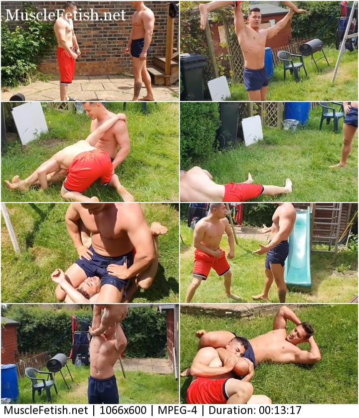 Hellbo Media - Denny and Denis Outside (amateur male wrestling)