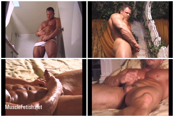 Hot Muscle Worship - Beefy Stud Sam Mass (flexing, stripping, and jerking)