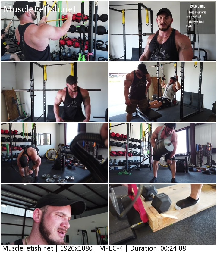 Hot bodybuilders Hunter Labrada and Bryan Troianello - training video