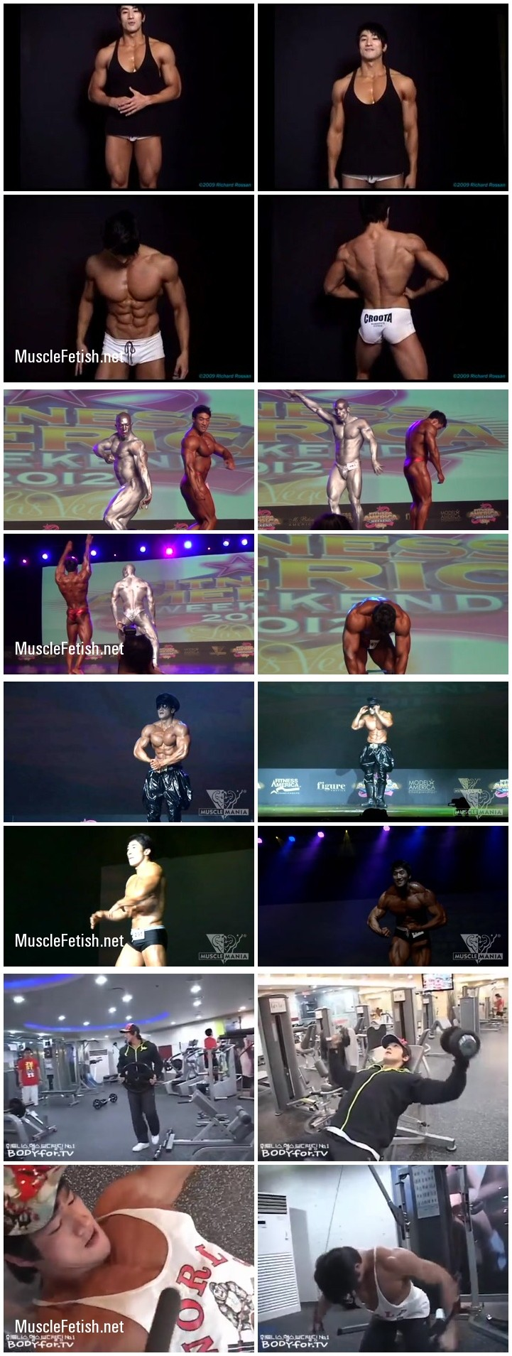 Hot korean bodybuilder Hwang ChulSoon - video and image collection