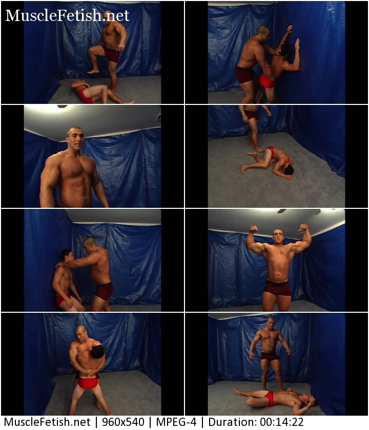 Hot male wrestling - Drake from NRW bites off more than he can chew with a big muscle wrestler