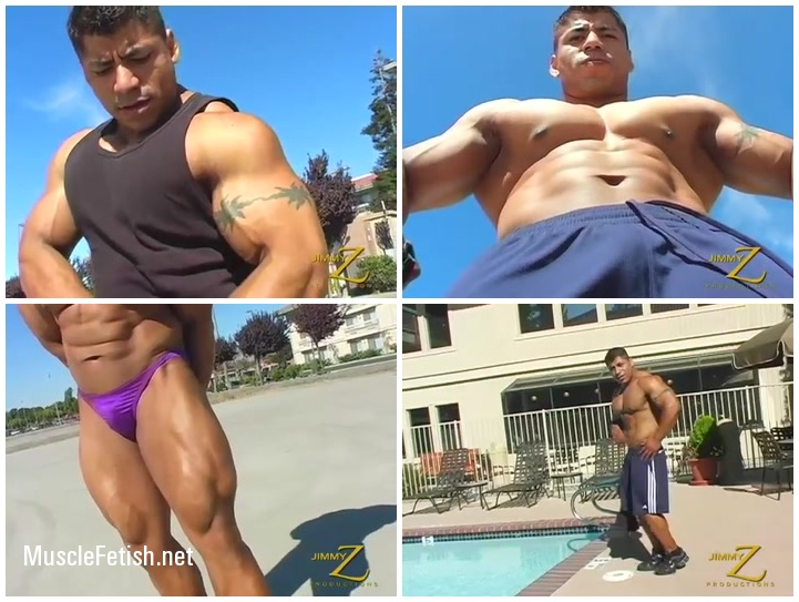 Huge Latino Bodybuilder Rico from JimmyZ