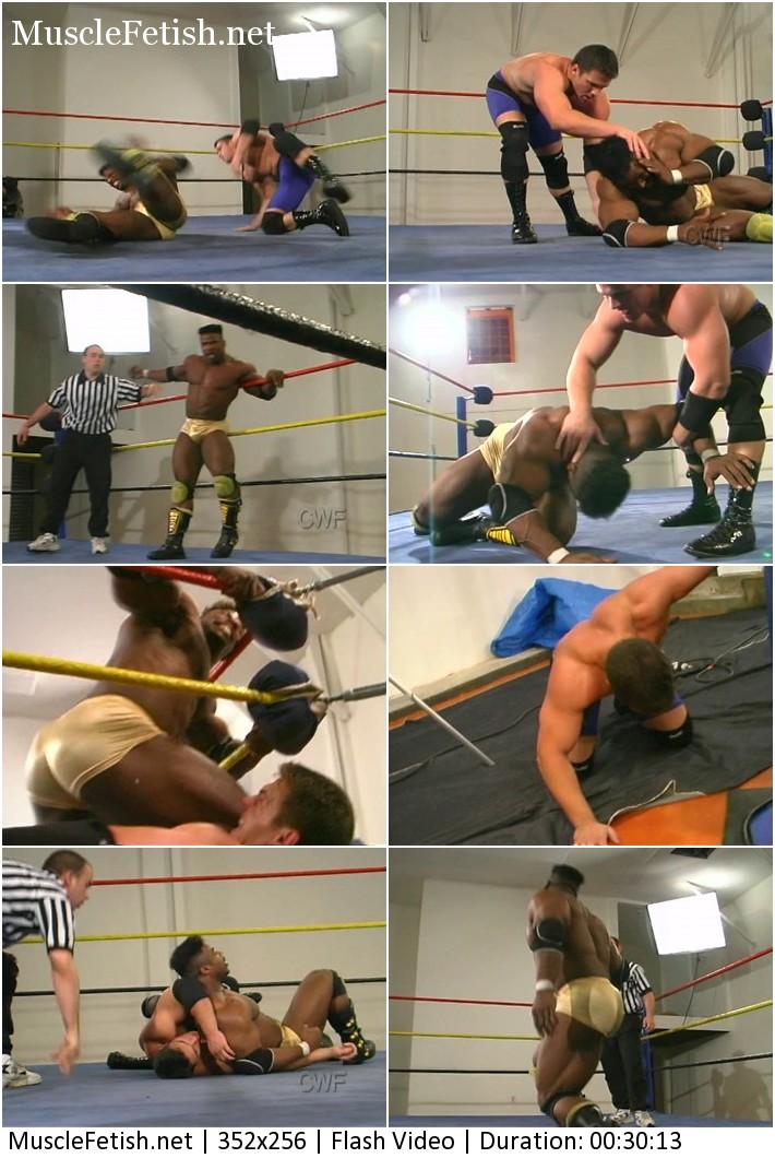 Interracial male wrestling - Aaron Baker Vs Mikey Henderson
