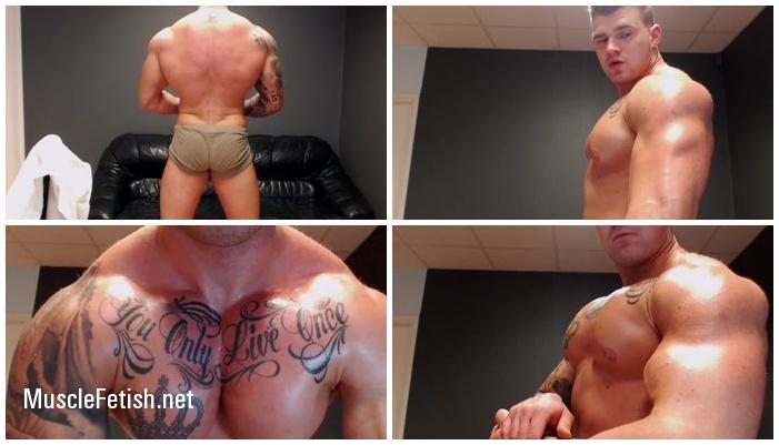 Jackyhuge - Tattooed bodybuilder from Chaturbate