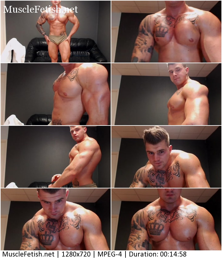 Jackyhuge - tattooed muscular boy from Chaturbate