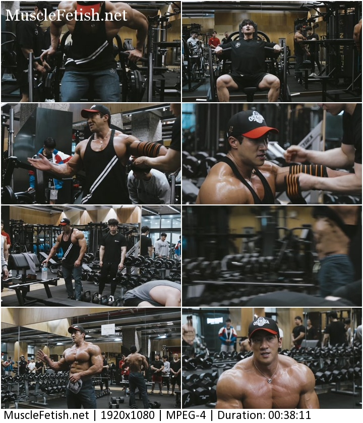 Korean bodybuilder Hwang Chul - Chest Workout - men's gym video