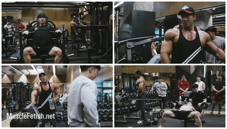 Korean bodybuilder Hwang Chul - Chest Workout