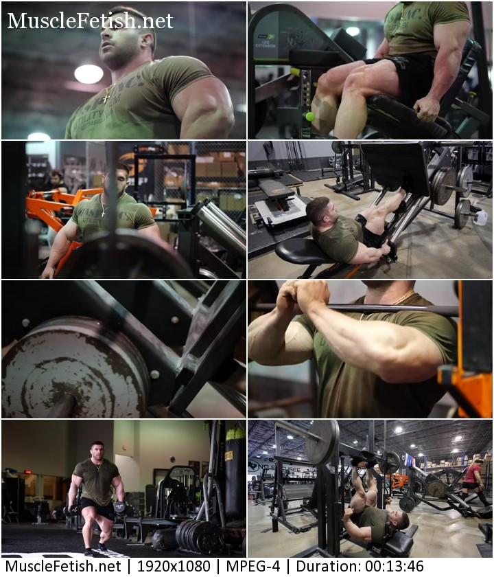 Leg training with Derek Lunsford (no sex)