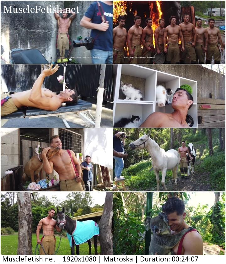 Making of Australian FireFighter - Erotic Male Calendar