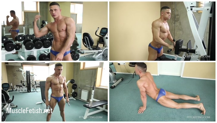 Male Fitness Casting - Muscle Model Ruslan Posing Workout