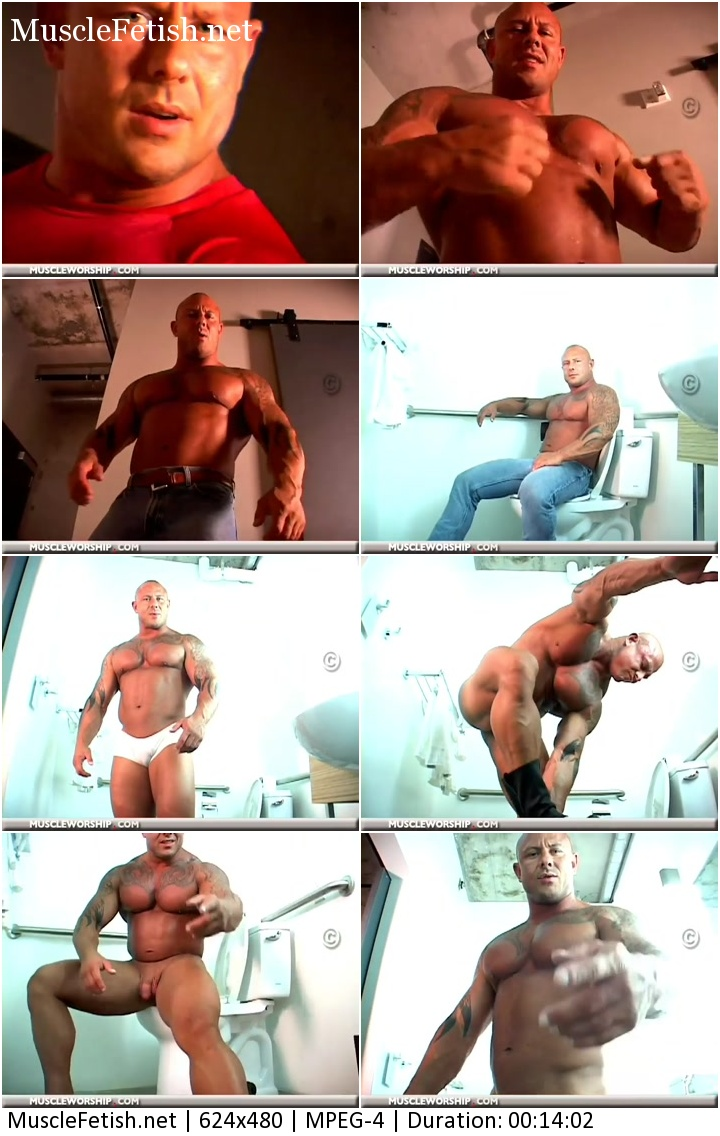 Male Muscle Domination - Naked Bodybuilder Tyler Lee does a solo Muscle Worship clip