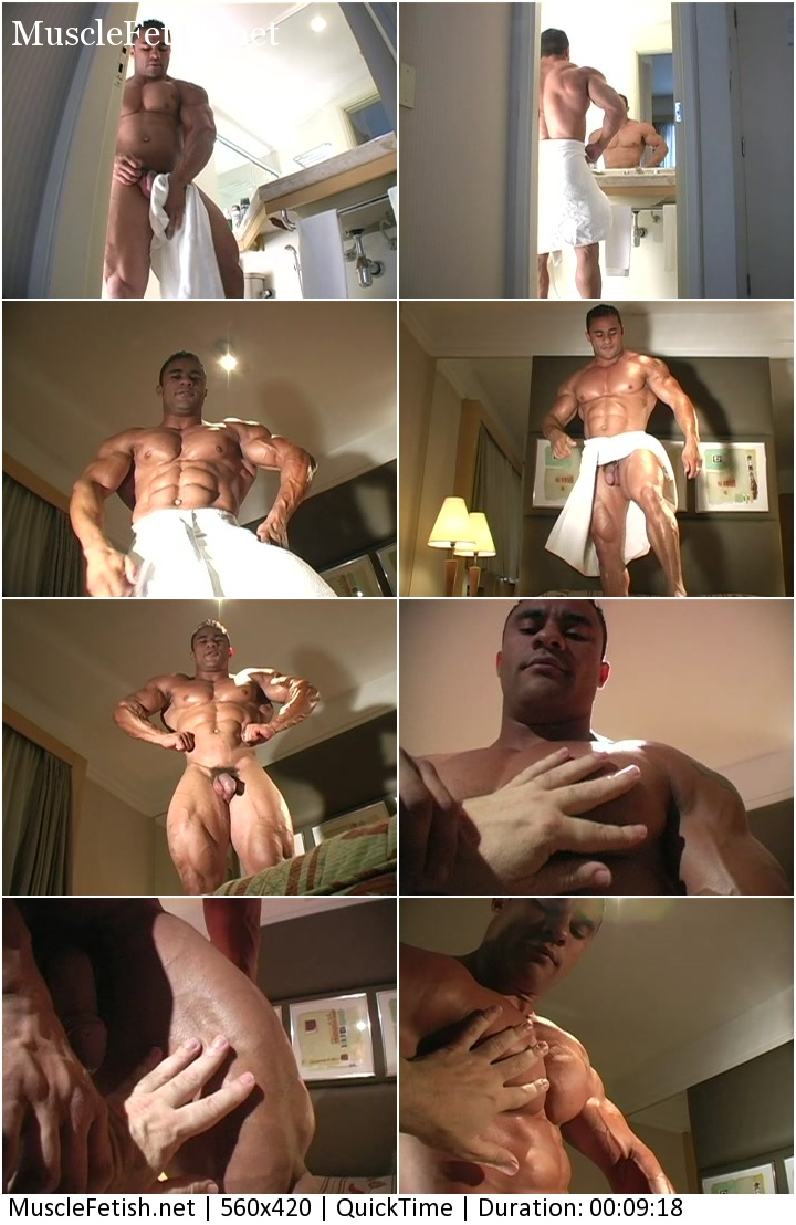 Male Muscle Worship - Erotic Photo Session of big bodybuilder Charles Mario (aka Alejandro Vega)