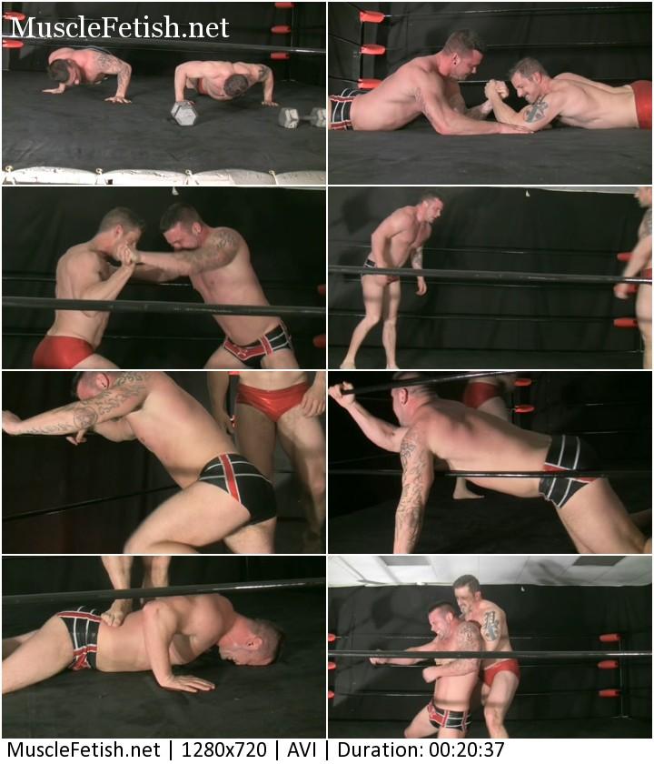 Male Wrestling Domination - Beefy Tatum Riggs vs Matt Thrasher (battle of strength and masculinity)