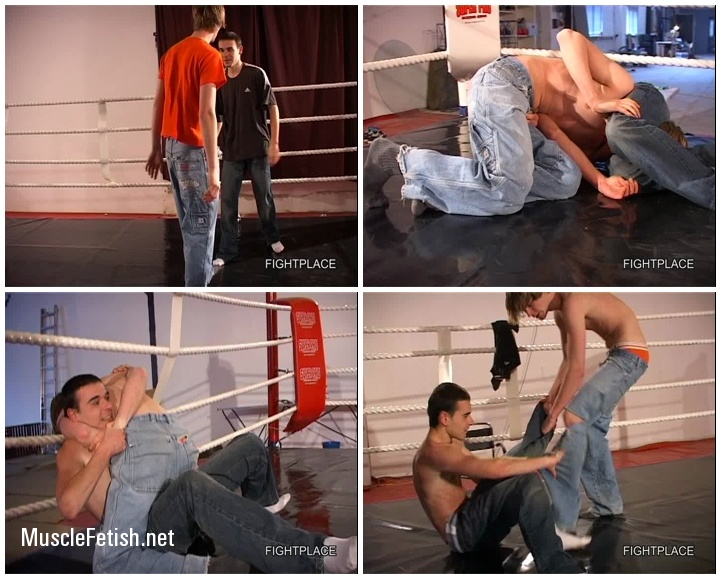 Male Wrestling from Fightplace - Raw Rounds - two handsome guys play fighting