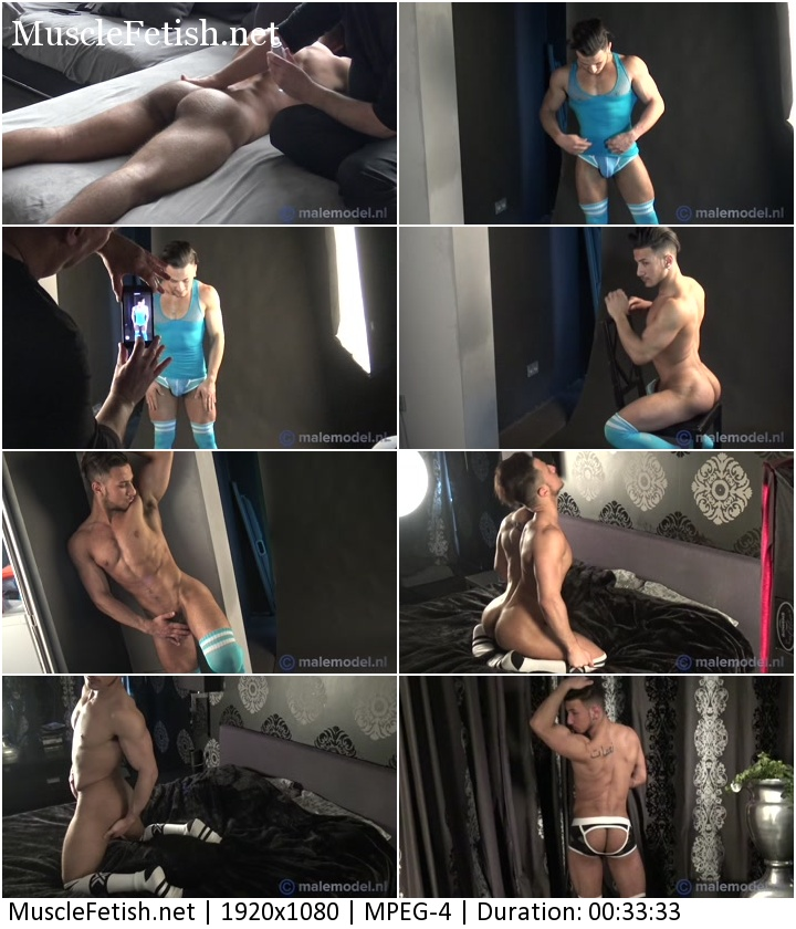 Male fitness model from Holland - Firnando - behind the scenes
