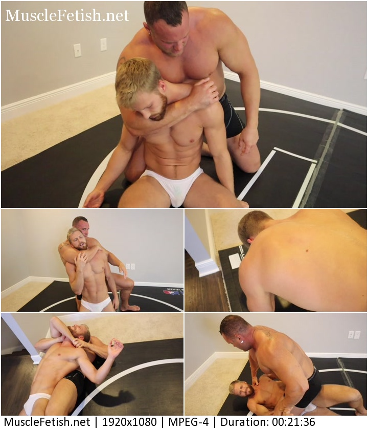 Mark Muscle vs Chase - Sleeper Muscle Worship - Mark strips down and worship Chase (hot ending)