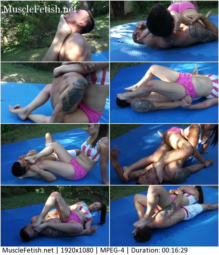 Mistress Lana vs Imi - Submit to Her Feet in Femdom Wrestling