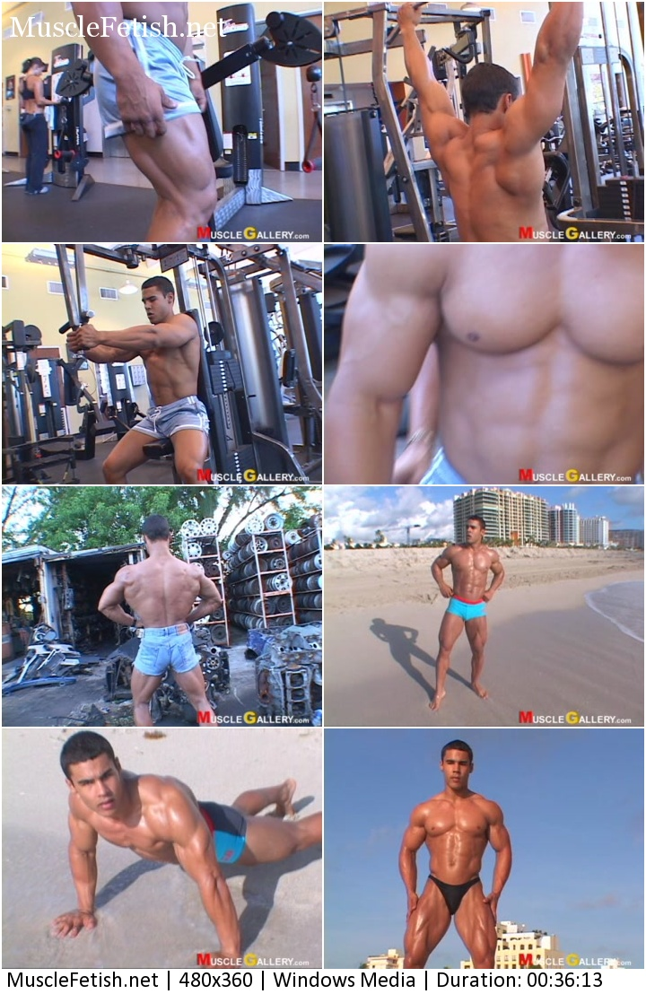 Muscle Gallery video - Bodybuilder Jazmany Castellanos Photoshoots