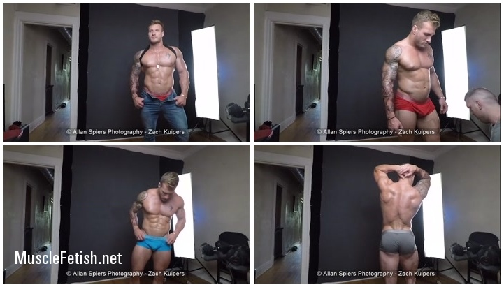 Muscle Model and Sexy Bodybuilder Zach Kuipers - Amateur Photo Shoot