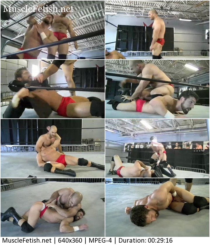 Muscle Ronnie Pearl vs Guido - sexy male wrestling and ballbusting