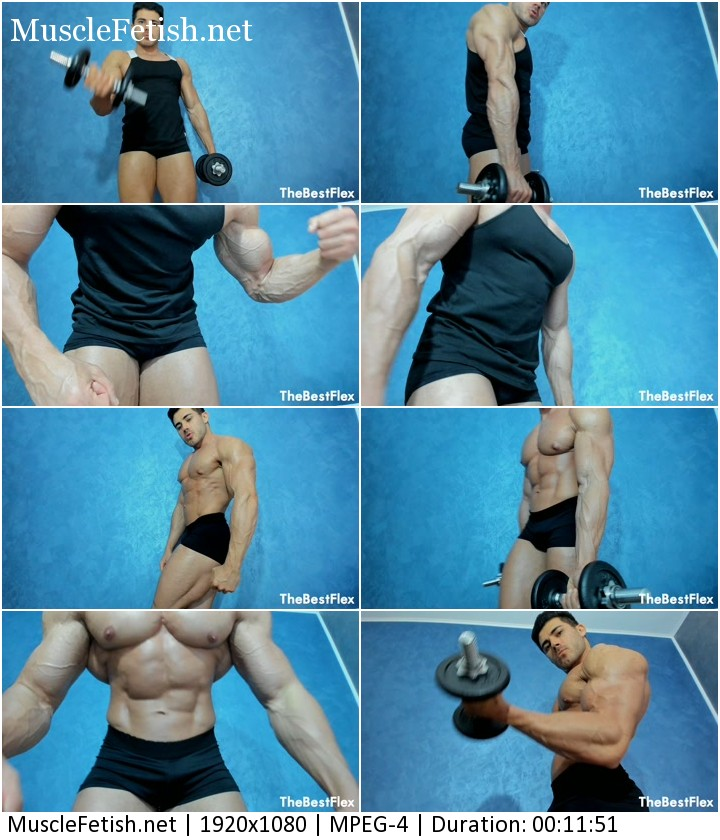 Muscle Titan video - vascular pumped up muscles from TheBestFlex