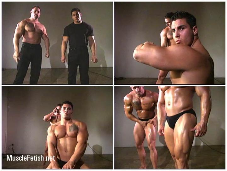 Muscle Worship - Bodybuilders In Black - Gauge and Scott Gunz