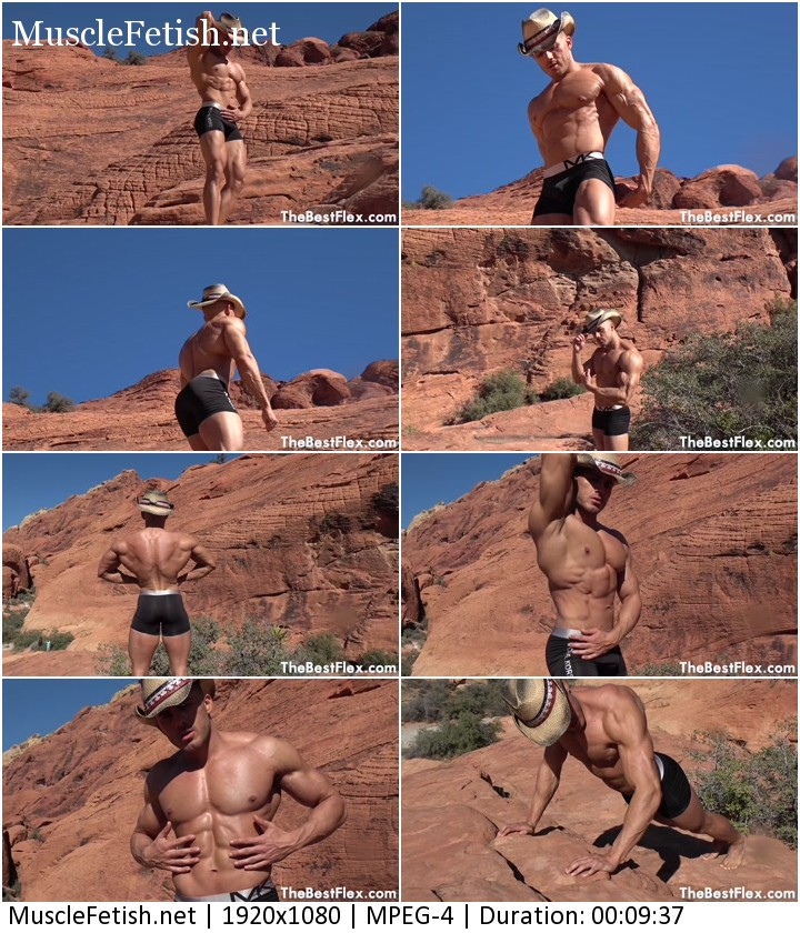 Muscle god canyon - muscular titan posing for a photoshoot - TheBestFlex