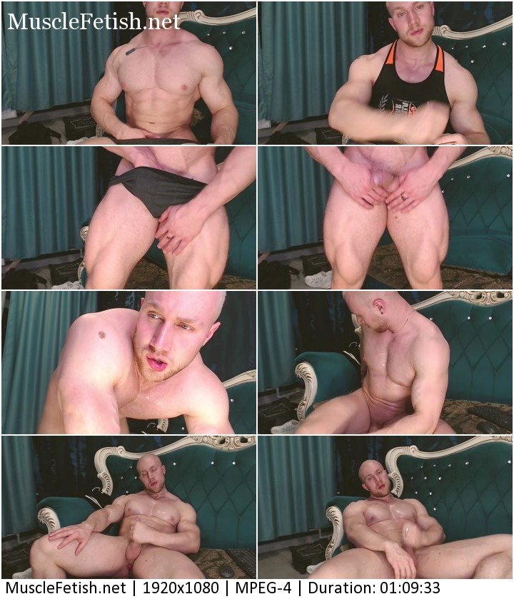 Muscle hunk Jamie Alton in private video on webcam