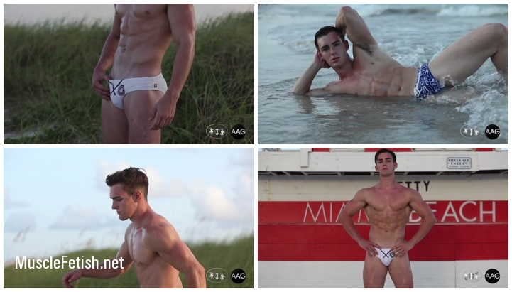 Muscle model Aidan fitness newcomer footage