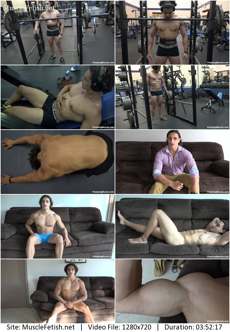 Muscle model - Brandon F - photo shoot part 2 - PumpingMuscle video