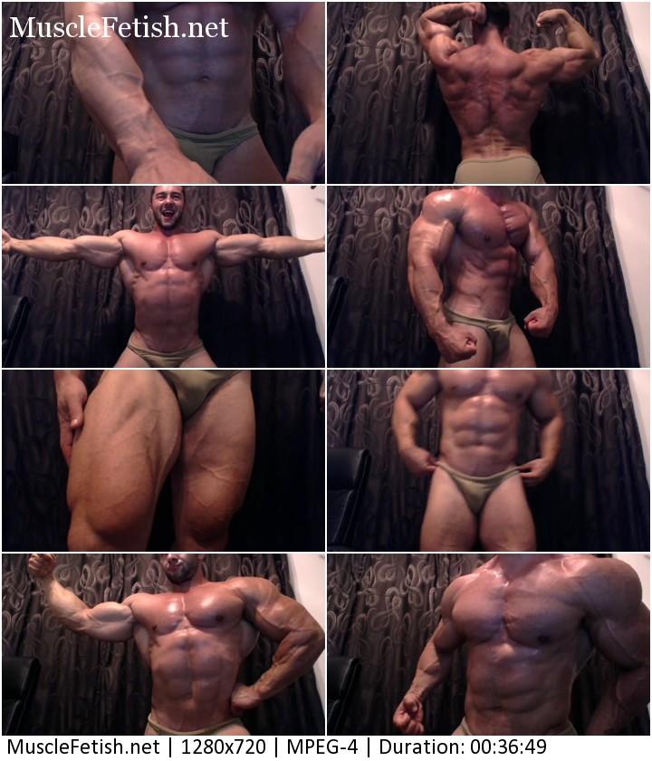 Muscle model Chris Bortone photo shoot on cam