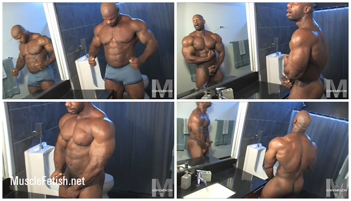 Muscle model Hank Warren - erotic posing from LegendMen