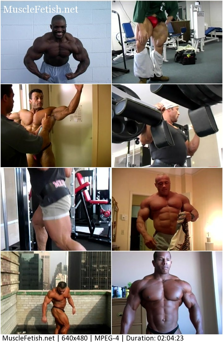 Muscletime part 2 Behind the Scenes - workout and posing bodybuilders