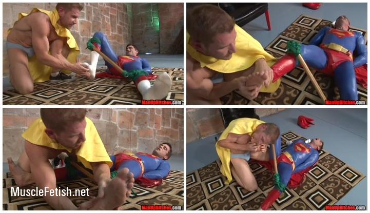 Muscular Alex Adams vs Superman