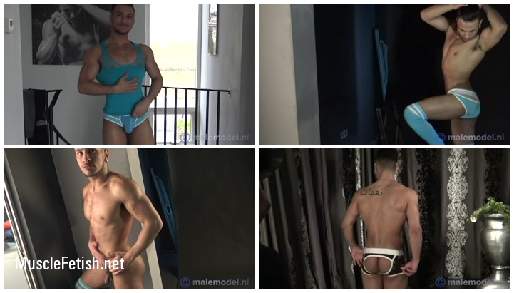 Muscular Male Model Fernando - behind the scenes