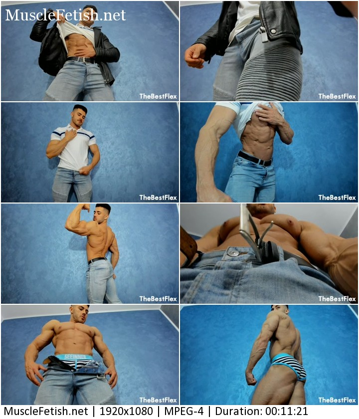 Muscular Titan from TheBestFlex - sexy bodybuilder teases you and strips