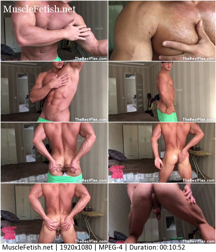 Muscular model Daniel Fit (23 year) - Hairy Chest And Strip
