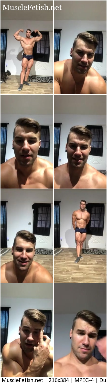 Muscular model Jake Burton (aka Stu, Loki) from Livestream Posing and flexing for the camera