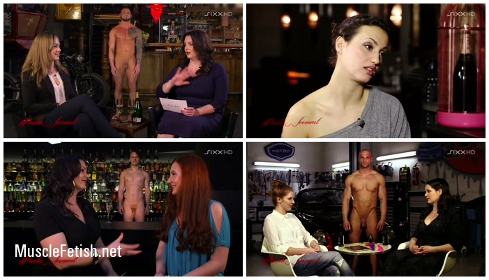 Nude Men as Decoration in German TV Show