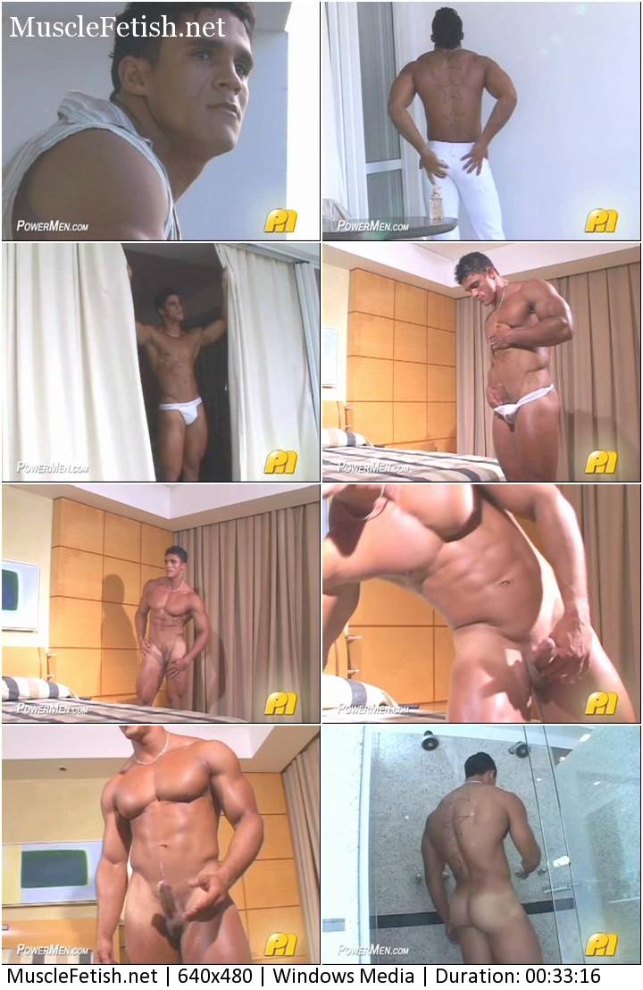 Nude bodybuilder Rafael Pinto from Powermen